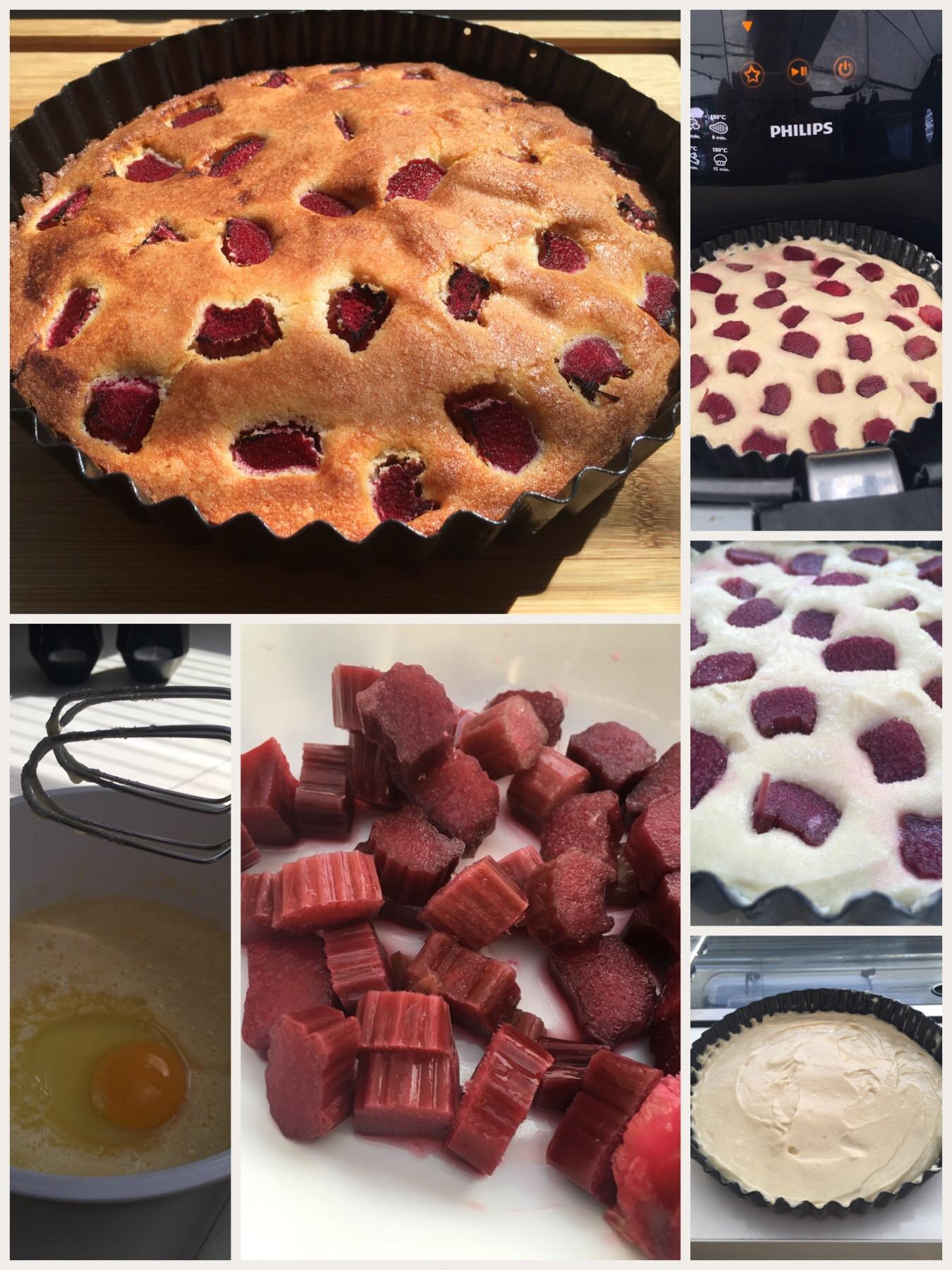 Rabarber tærte (pund til pund kage)