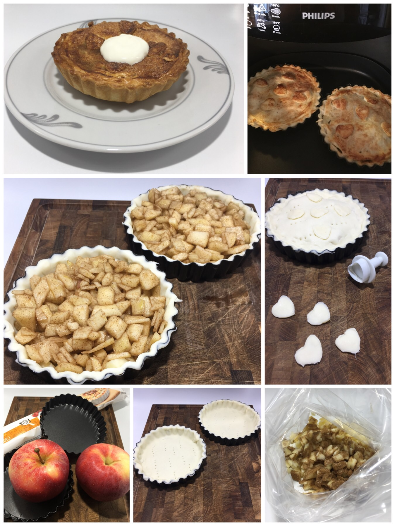 Små tærter med æble og kanel