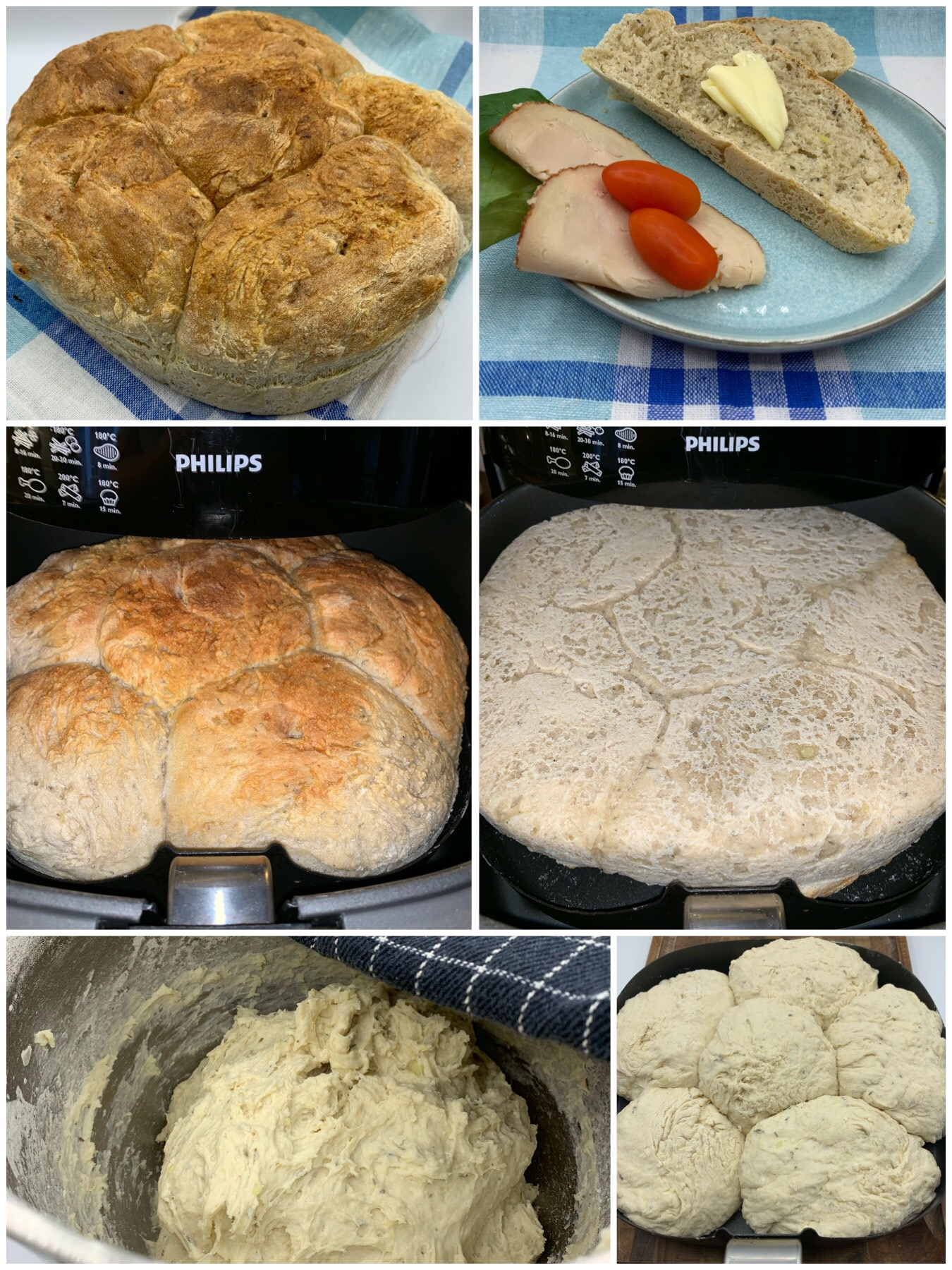 Brød med kartoffelmos og timian