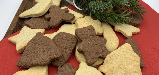 Jule småkager med vanilje og kakao