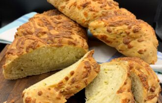 Flettet ostebrød med squash