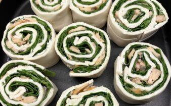 Butterdejssnegle med laks, spinat og flødeost