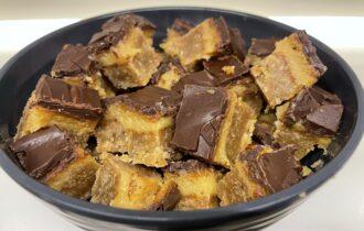 Konfekt med karamel og chokolade